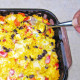 Cheesy Chicken, Yellow Rice and Black Bean Casserole