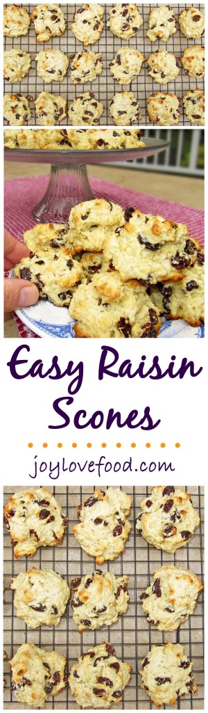 Easy Raisin Scones - These delicious, buttery scones are so easy to put together, perfect for breakfast or a snack anytime.