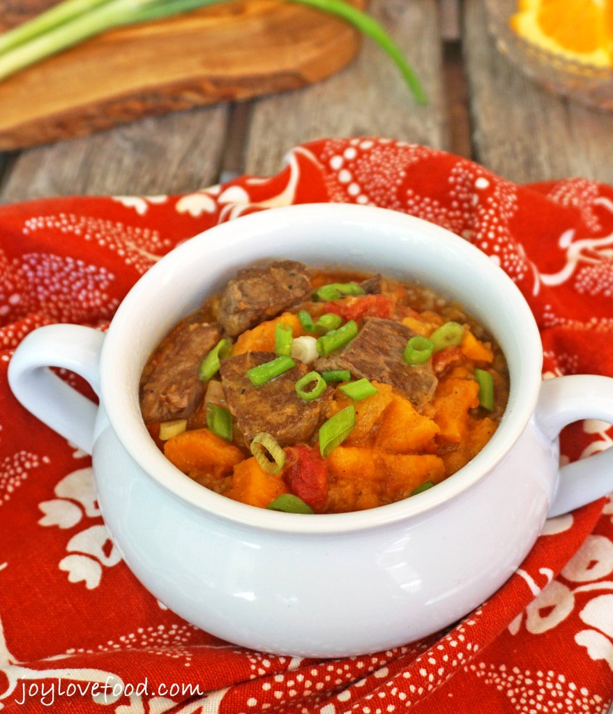 Slow Cooker Beef & Sweet Potato Tagine