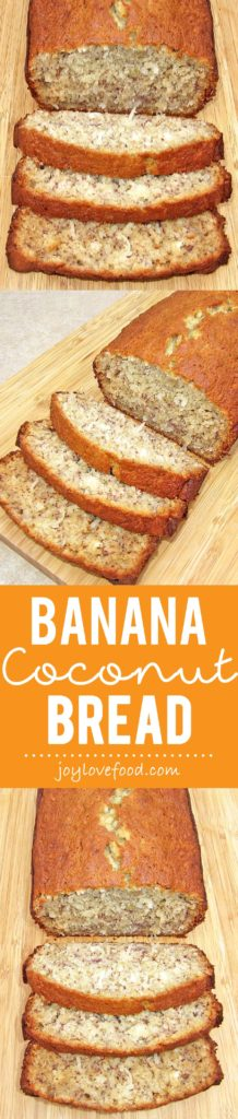 Banana bread gets a tropical twist with the addition of coconut in this delicious Banana Coconut Bread.