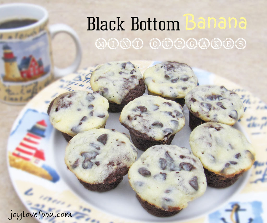 Black Bottom Banana Mini Cupcakes