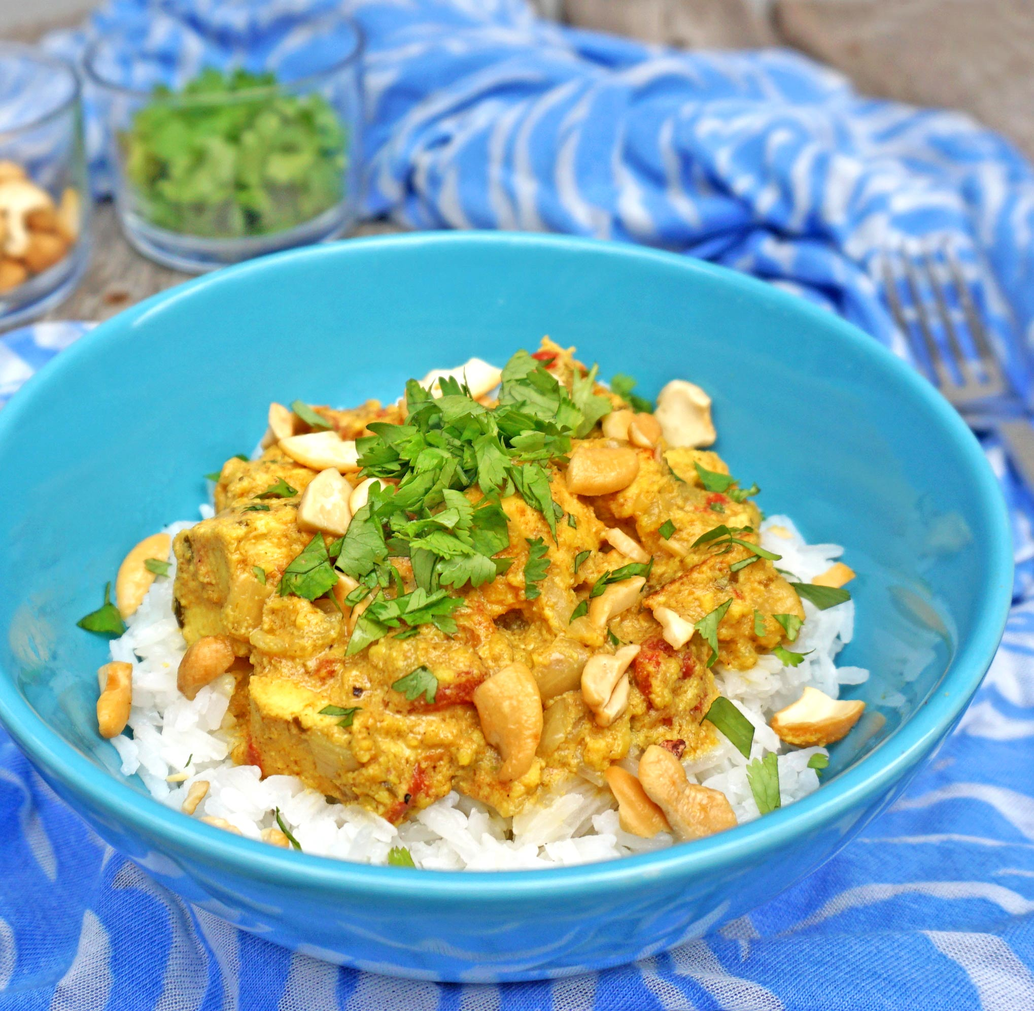 Chicken Curry with Cashews - Joy Love Food