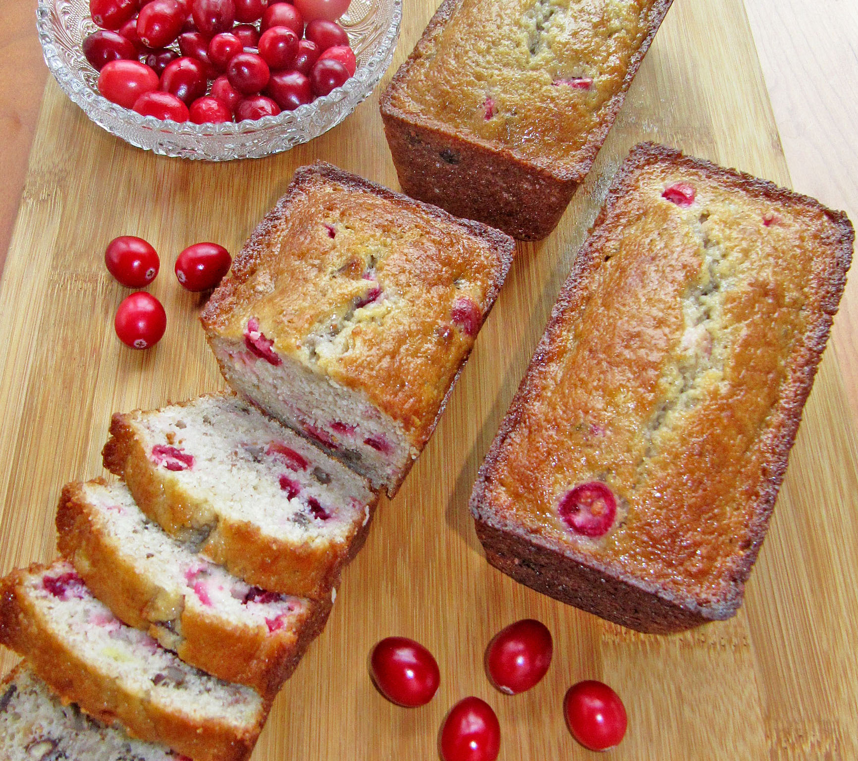 Cranberry Banana & Pecan Mini Loaves - Joy Love Food