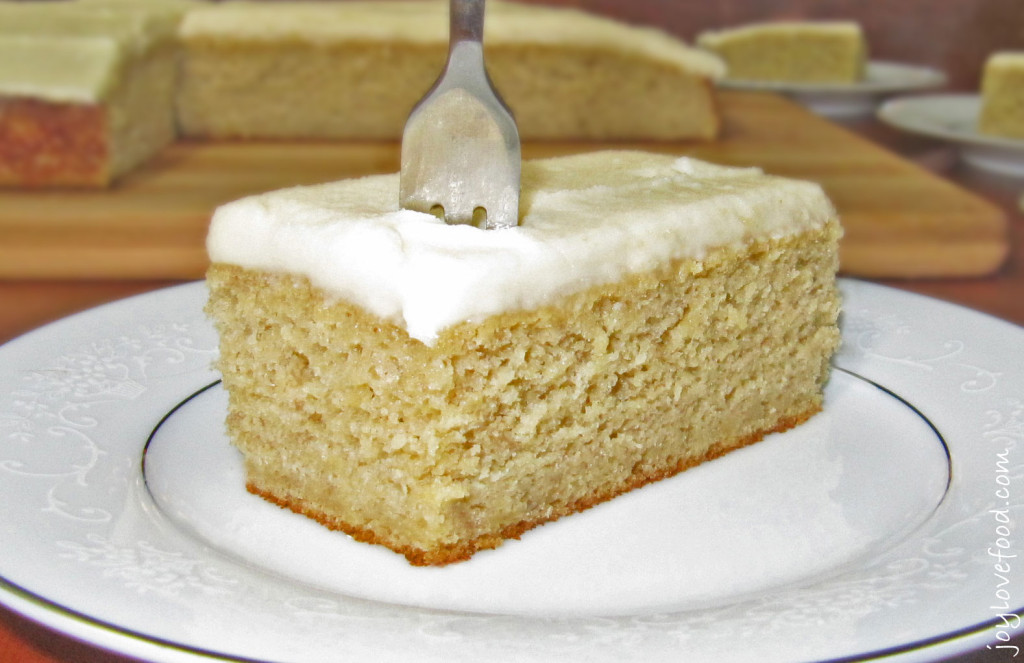 Banana Cake With Brown Sugar Icing