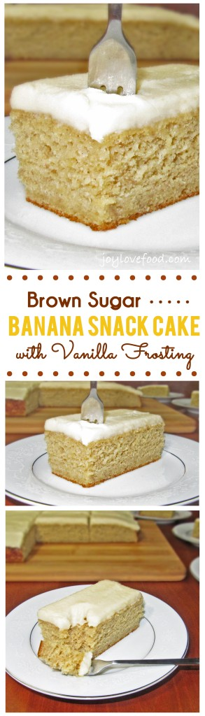 Brown Sugar Banana Snack Cake