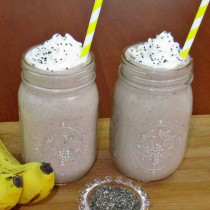Chocolate Banana Chia Seed Smoothie