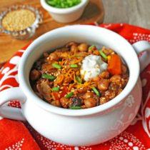 Crock Pot Chicken, Carrot and Chickpea Tagine