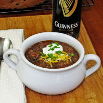 Guinness Steak and Black Bean Chili
