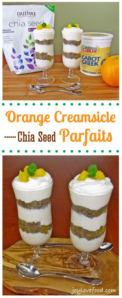 Orange Creamsicle Chia Seed Parfaits