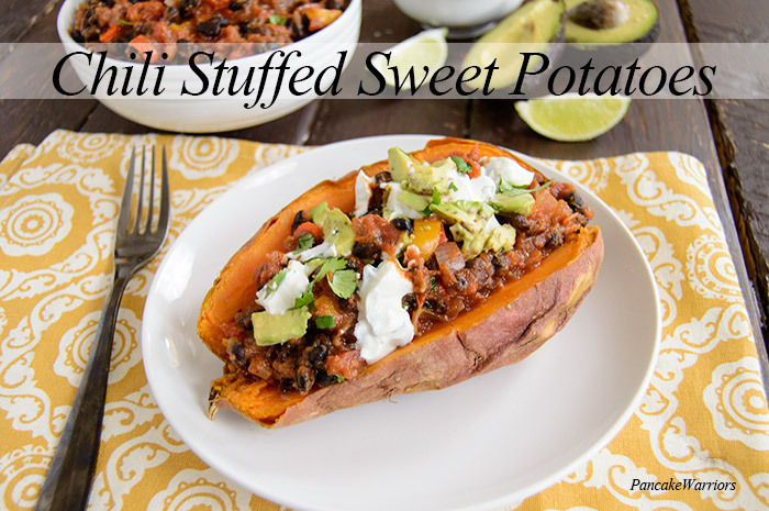 week7 - chili stuffed sweet potatoes