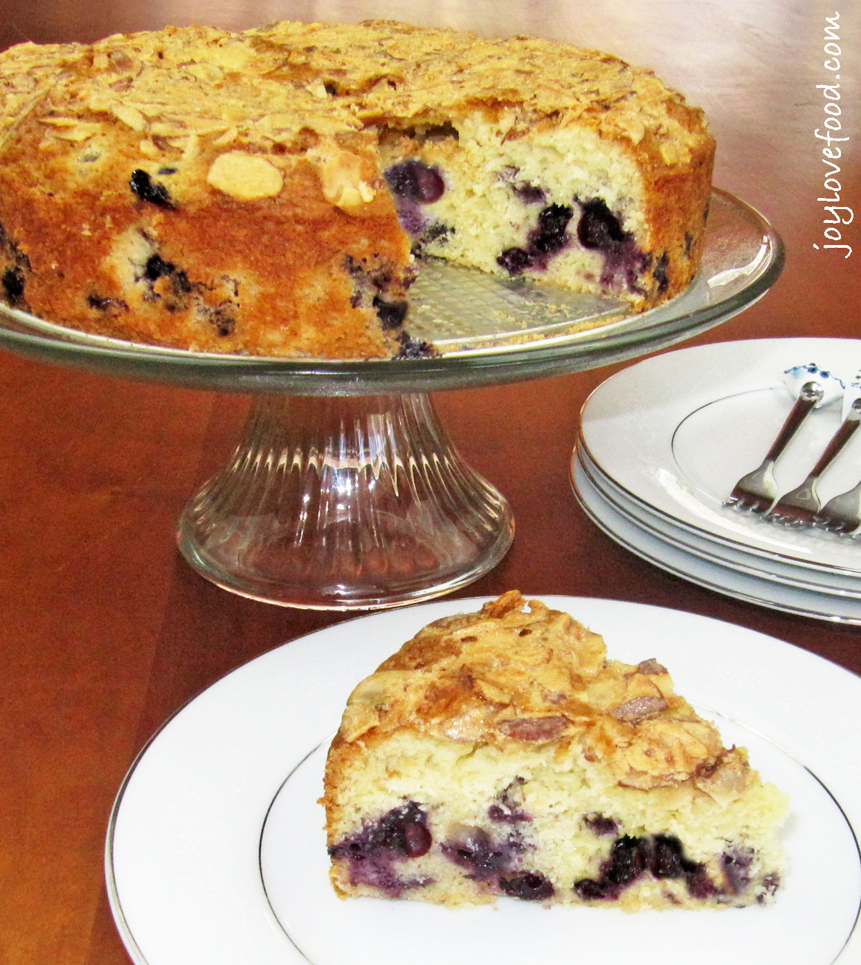 Blueberry Almond Coffee Cake - Joy Love Food