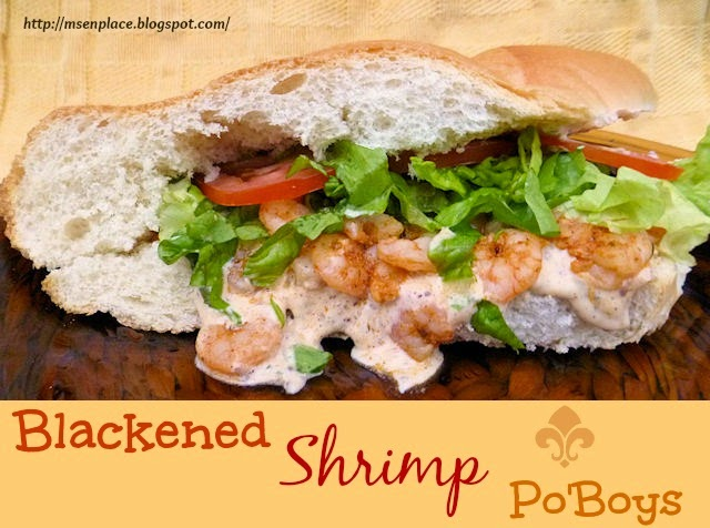 blackened shrimp po boy 2