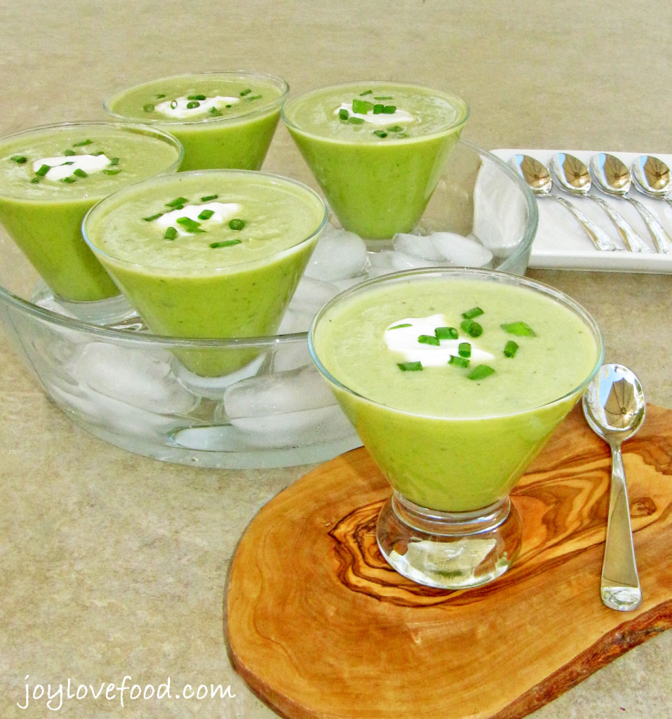 Chilled Sweet Pea and Mint Soup