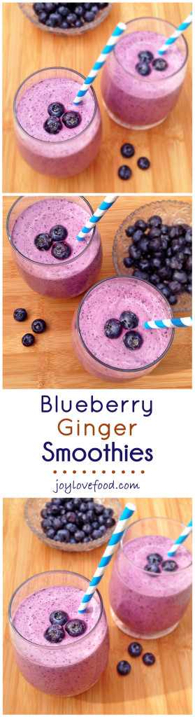 Blueberry Ginger Smoothies