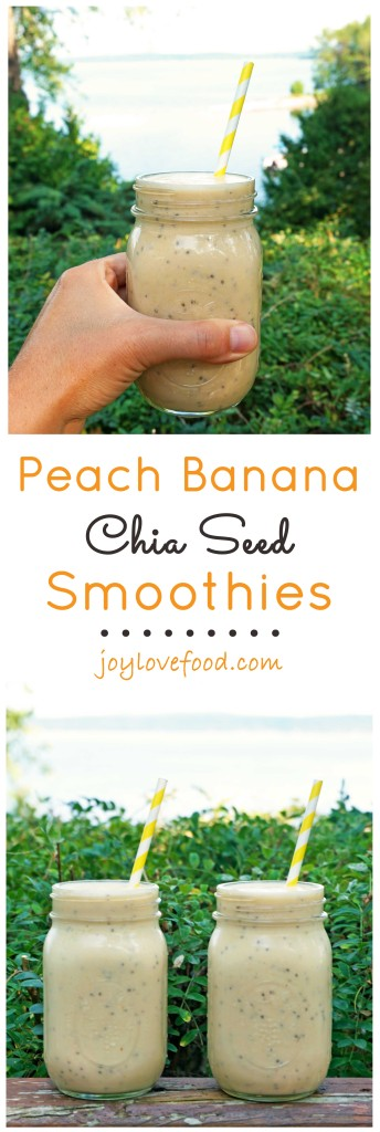 Peach Banana Chia Seed Smoothies