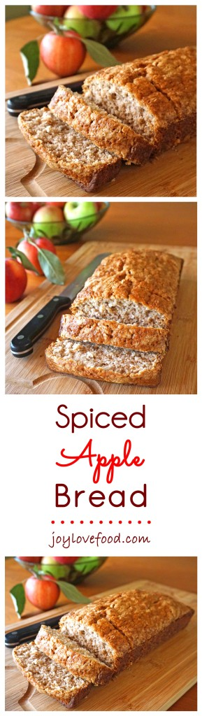 Spiced Apple Bread - this delicious, subtly spiced apple bread is the perfect autumn treat. Enjoy a slice or two with a cup of coffee in the morning or anytime you're craving a little something sweet.
