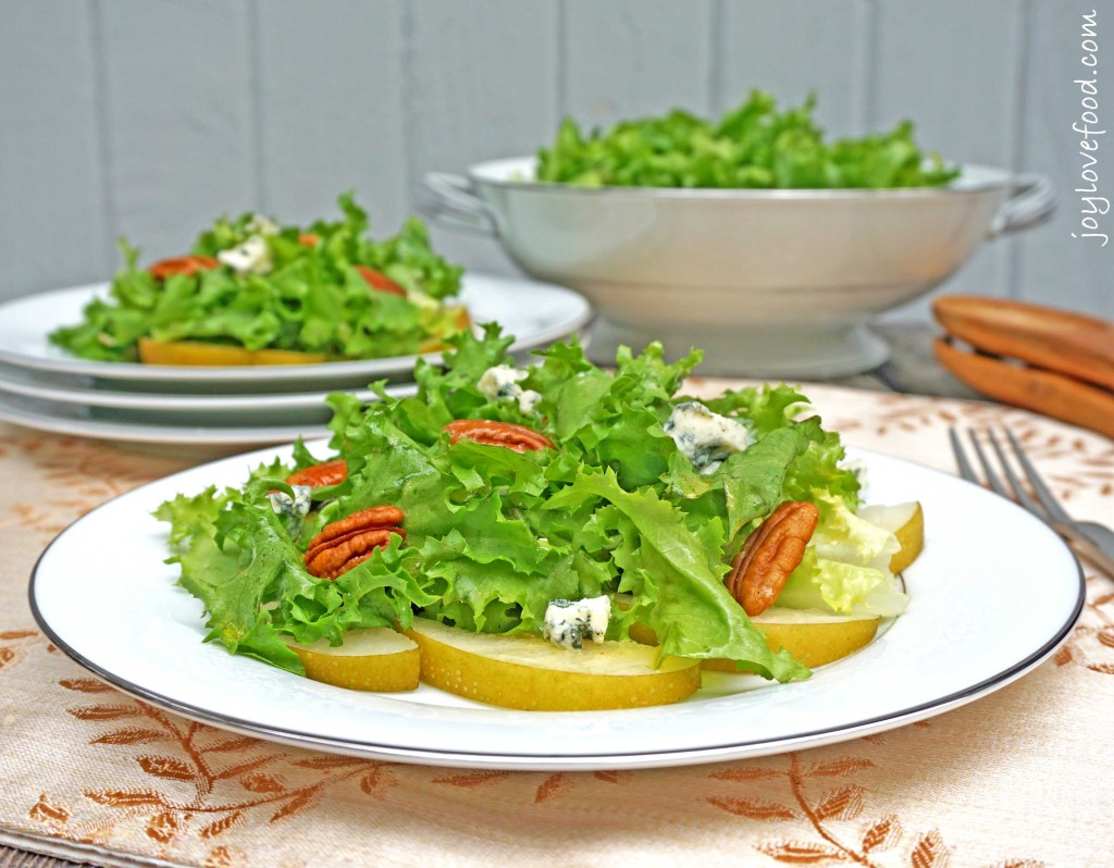 Asian Pear, Blue Cheese and Chicory Salad