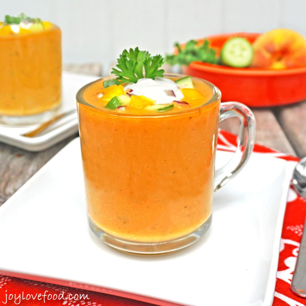 Peach and Roasted Jalapeno Gazpacho