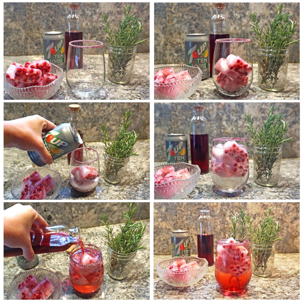 Sparkling Pomegranate Punch - how to assemble