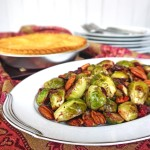Pan Roasted Brussels Sprouts with Cranberries and Pecans + Chicken Pot Pie