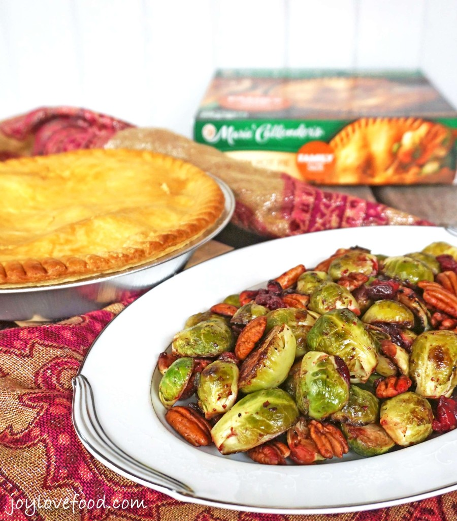 Pan Roasted Brussels Sprouts with Cranberries and Pecans