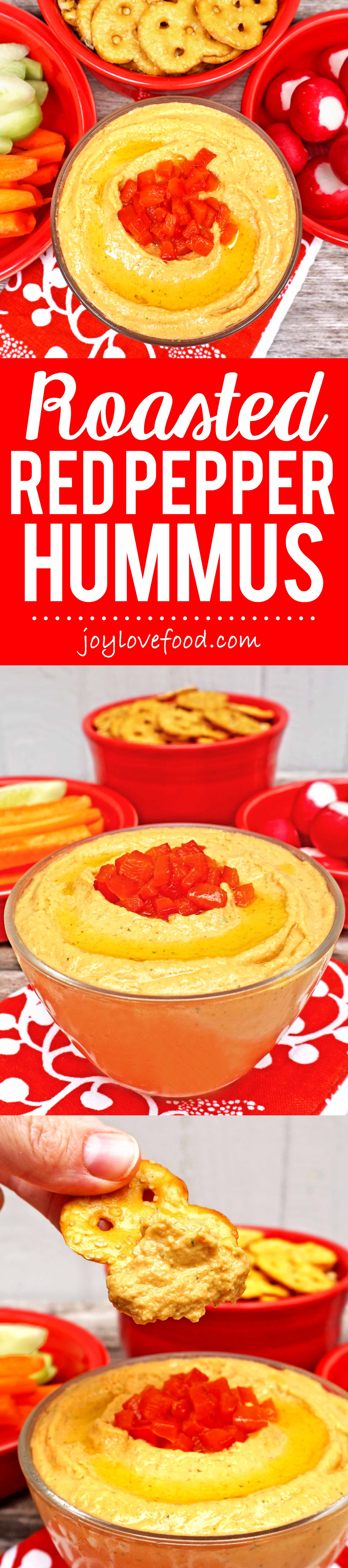 Roasted Red Pepper Hummus - a delicious, creamy, flavorful dip ...