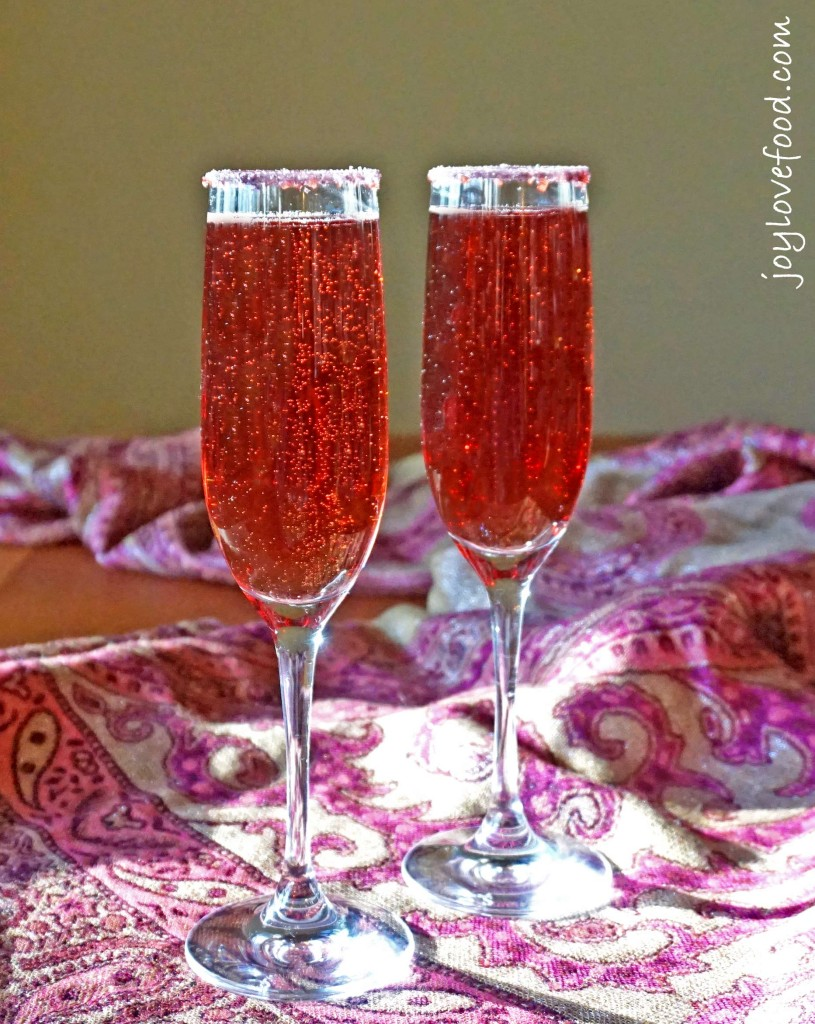 Pomegranate Champagne Cocktails