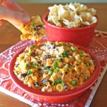 Crock Pot Cheesy Salsa, Black Bean and Corn Dip