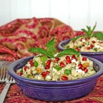 Quinoa with Pomegranate, Pistachios and Feta