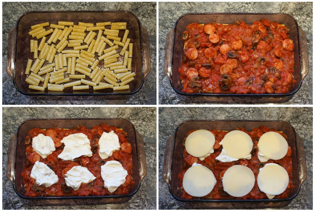 Cheesy Baked Ziti with Kielbasa