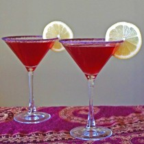 Pomegranate Limoncello Martinis