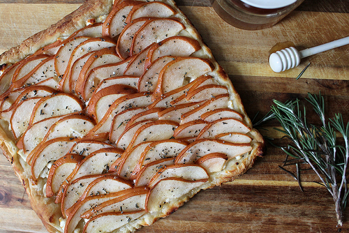 Pear and Goat Cheese Tart