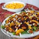 Roasted Beet Salad with Oranges, Goat Cheese and Candied Walnuts + Mac & Cheese