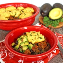 Tex Mex Chicken Casserole with Cornbread Topping