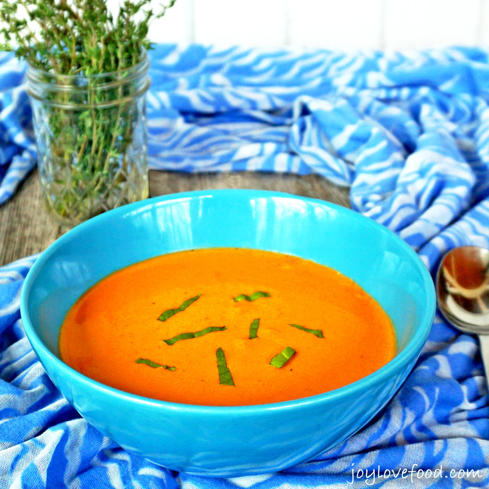 Roasted Red Pepper Soup - Joy Love Food