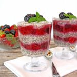 Two Berry Vanilla Chia Seed Pudding Parfaits