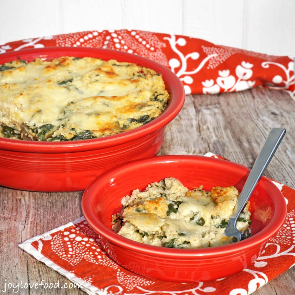 Spinach and Artichoke Quinoa Bake