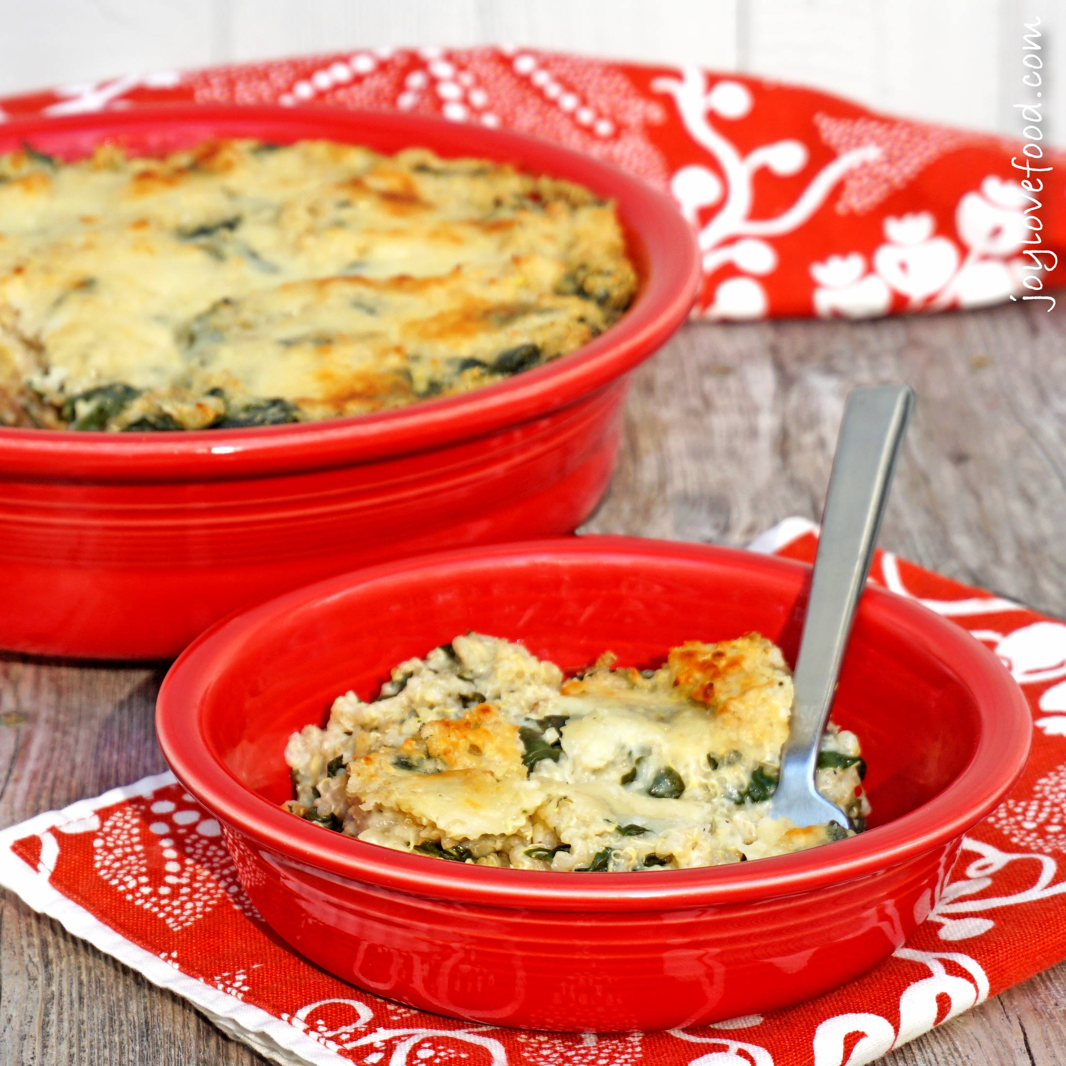 spinach and artichoke quinoa bake the creamy cheesy flavors of spinach ...