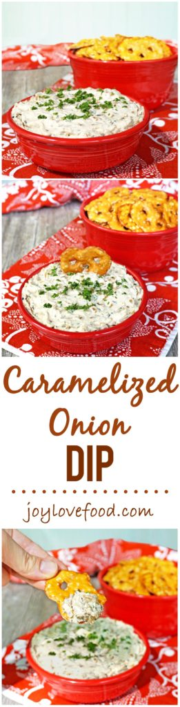 Caramelized Onion Dip - a delicious, creamy dip that is full of flavor and perfect for your next party or get together.