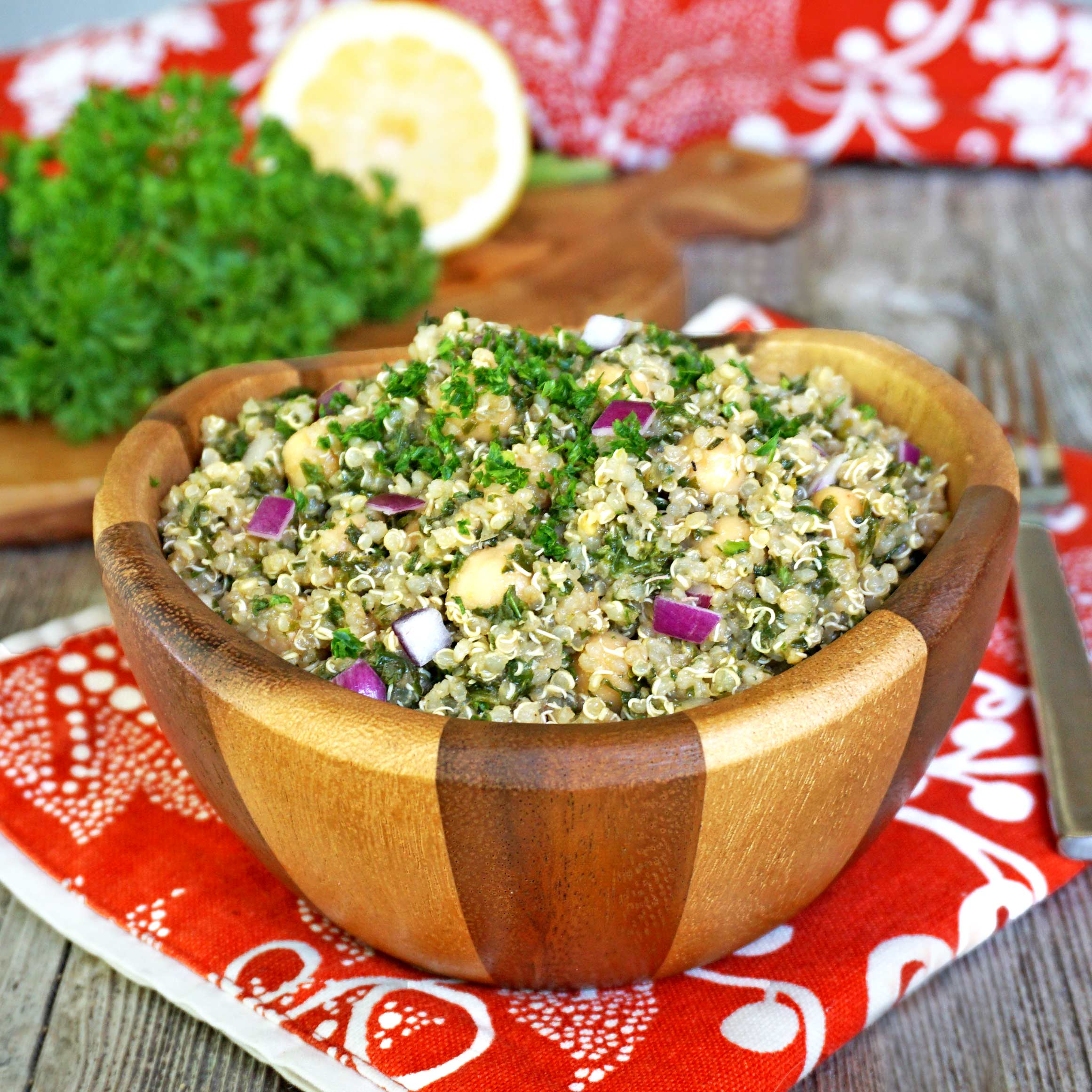 Quinoa, Kale and Chickpea Salad