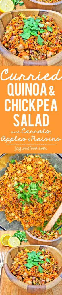 Curried Quinoa and Chickpea Salad with Carrots, Apples & Raisins - Joy ...