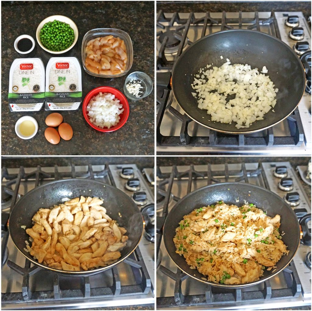 Easy Chicken Fried Rice process steps