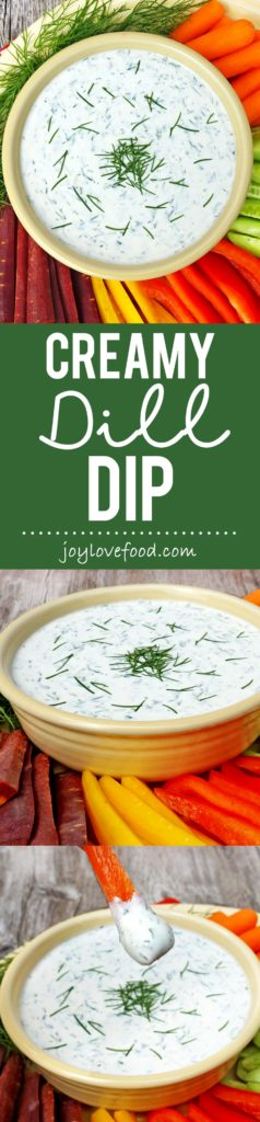 Creamy Dill Dip - a fresh, delicious and healthy dip that is full of flavor, perfect for a party or get together.