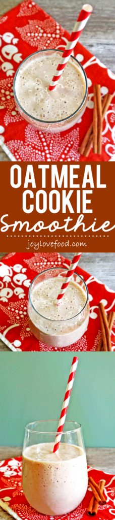 Oatmeal Cookie Smoothie - the delicious flavors of an oatmeal cookie in a creamy, healthy smoothie, that is both vegan and gluten-free.