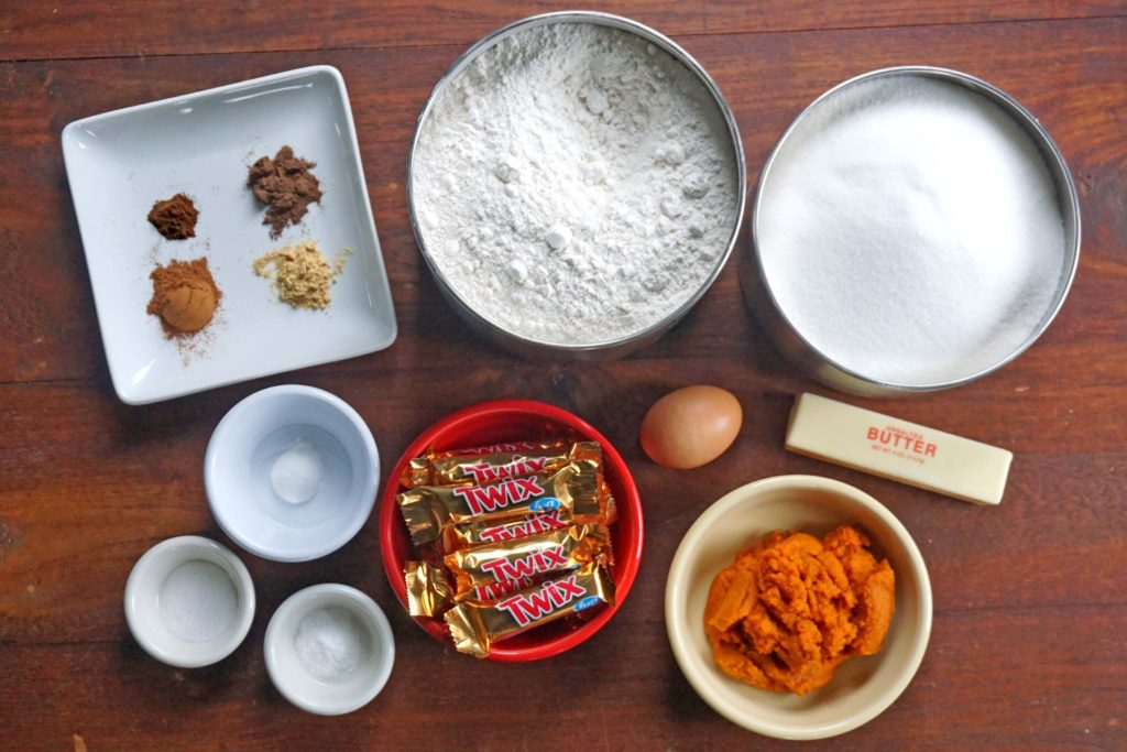 Pumpkin TWIX® Mini Scones - ingredients