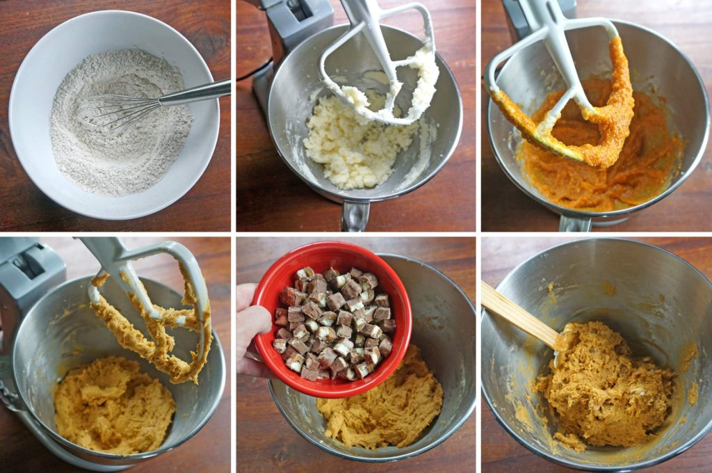 Pumpkin TWIX® Mini Scones - process steps 1-6