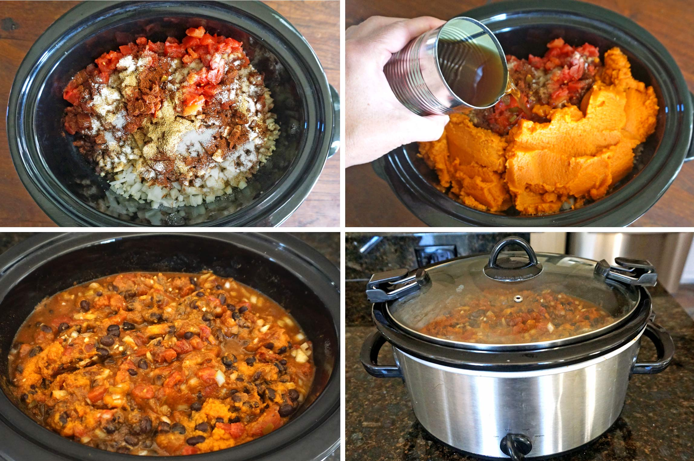 Slow Cooker Steak, Pumpkin and Black Bean Chili - Joy Love ...