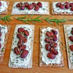 Roasted Grape and Goat Cheese Topped Wasa Crackers