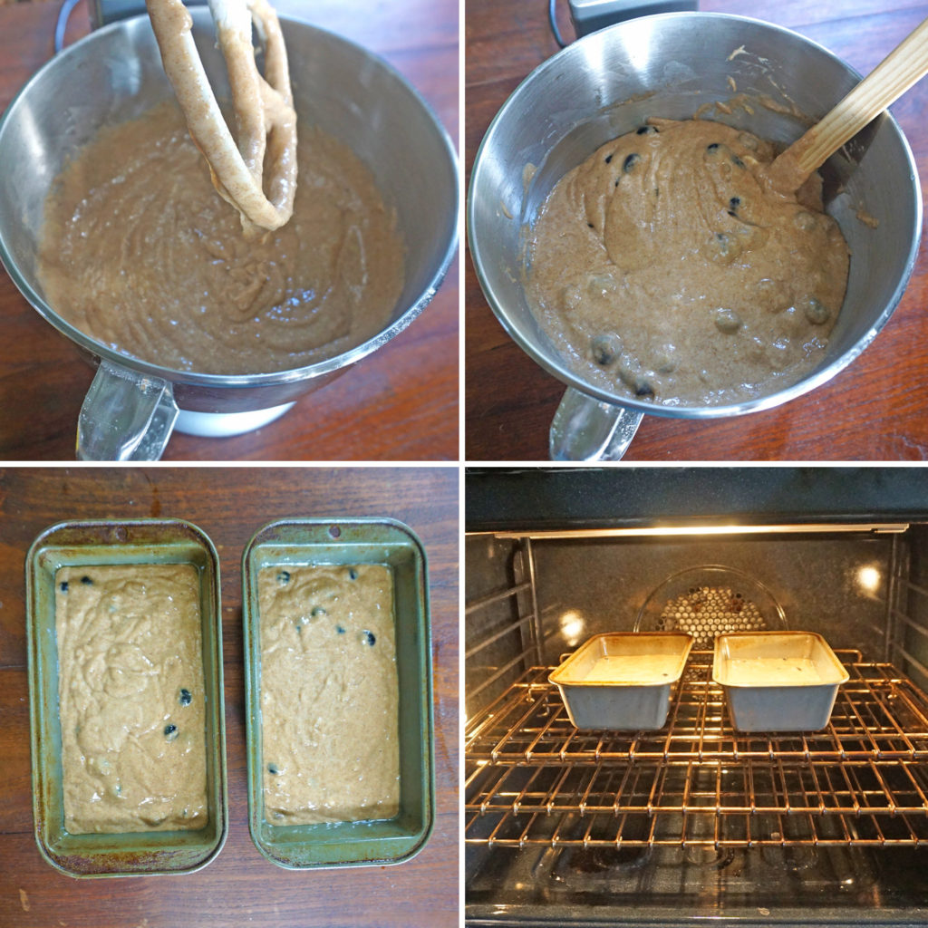 Blueberry Banana Bread - process steps 2